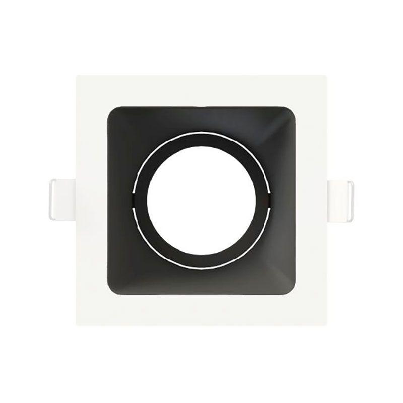 Spot Embutir Save Energy SE-330.1595 Quadrado Hide Dicróica/PAR16 GU10 100x110x70mm Branco/Preto