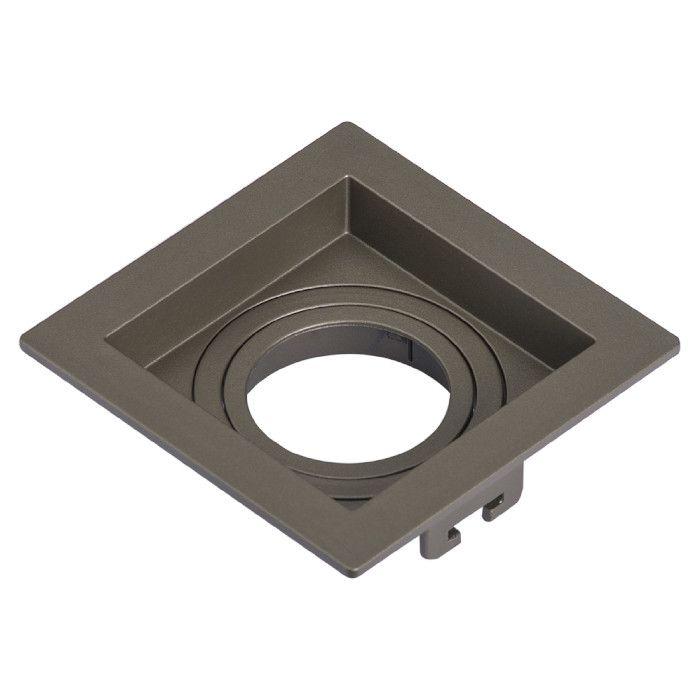 Spot Embutir Save Energy SE-330.1891 Recuado Quadrado 1L GU10 Dicróica/PAR16 100x100x35mm - Chumbo