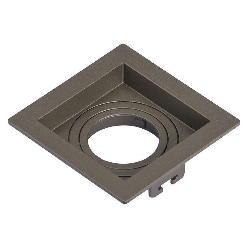 Spot Embutir Save Energy SE-330.1895 Recuado Quadrado 1L GU10 AR111 170x170x35mm - Chumbo