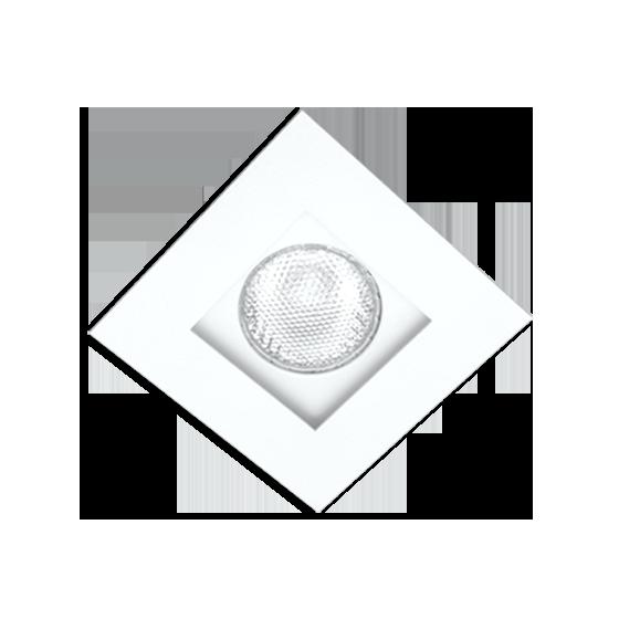 Spot Incolustre 700.01 Down Slim 10 1L Dicróica /PAR16 GU10 100x100mm Fundo Branco