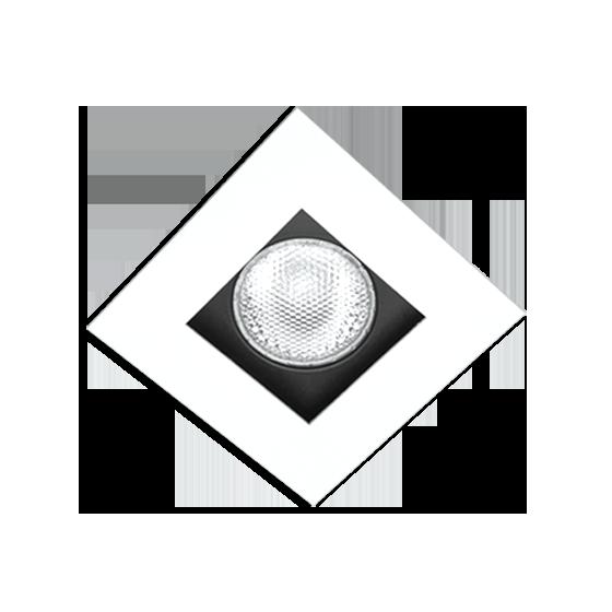 Spot Incolustre 700.02 Down Slim 20 1L Dicróica /PAR16 GU10 100x100mm Fundo Preto