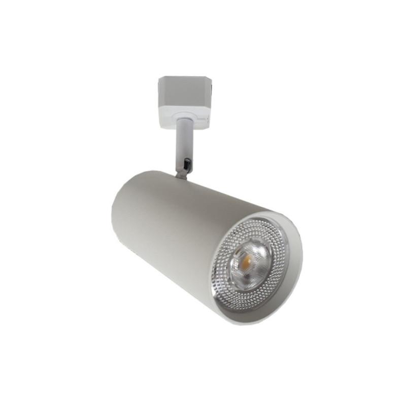 Spot para Trilho Starlux ZTL016-WH Titan 1L GU10 MR16 Ø53x80mm - Branco