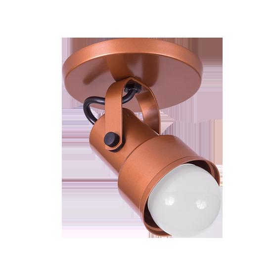 Spot Canopla Sobrepor Incolustre 703.02 Inval 1L PAR20 E27 Ø75x115mm Marrom