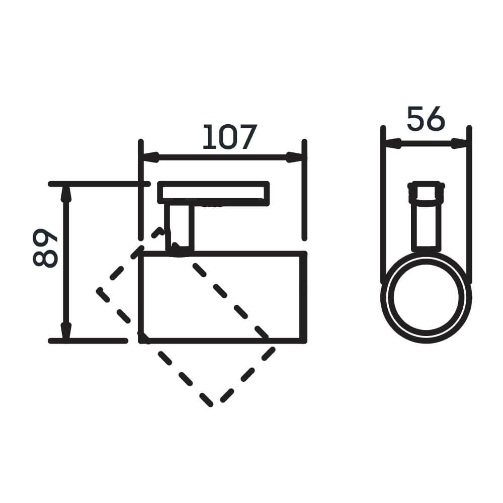 Spot Trilho Eletrificado Newline IN50925 Lisse I 1L GU10 Dicróica/PAR16 56x107x89mm - Com Adaptador