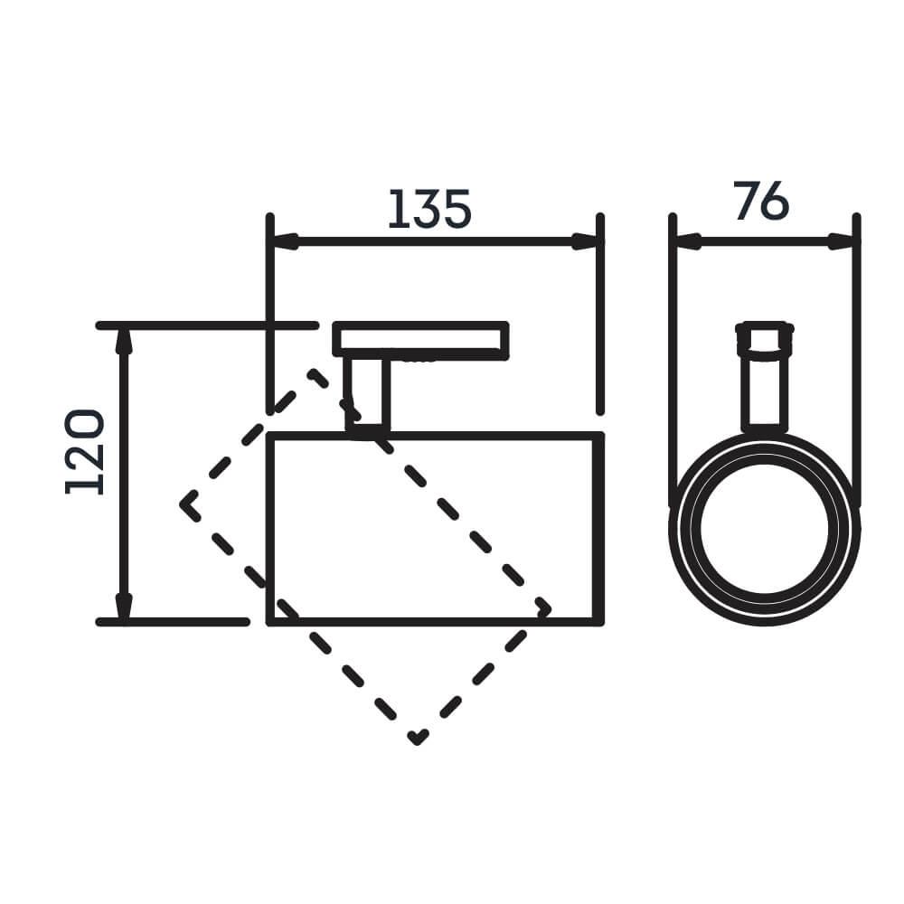 Spot Trilho Eletrificado Newline IN50935 Lisse I 1L E27 PAR20 76x135x120mm - Com Adaptador