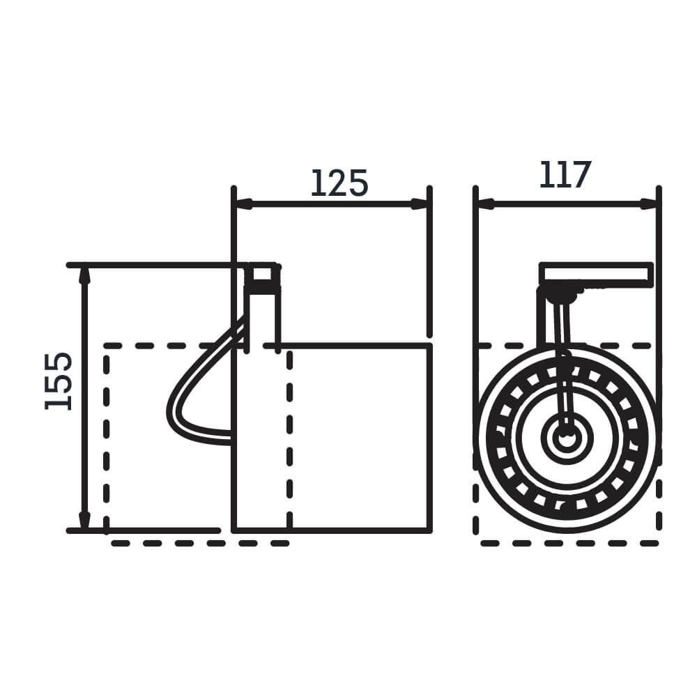 Spot Trilho Eletrificado Newline IN55955 Lisse II 1L GU10 AR111 125x117x155mm - Com Adaptador