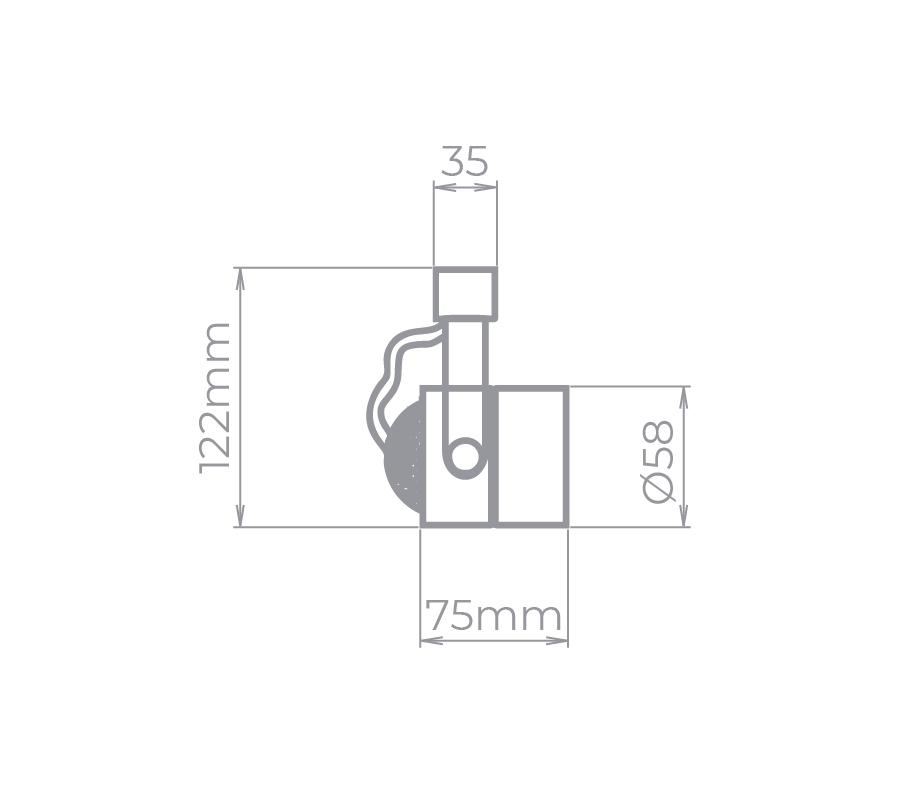 Spot Para Trilho Eletrificado Stella SD1050PTO MR16 1L Dicróica/PAR16 GU10 75x122mm - Preto