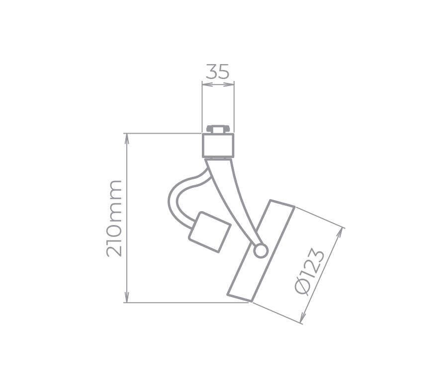 Spot Para Trilho Eletrificado Stella SD1060BR AR111 1L GU10 AR111 Ø123x210mm - Branco