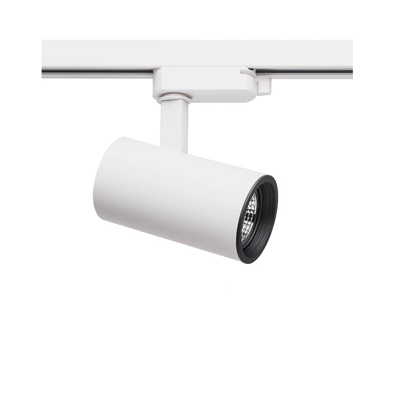 Spot Para Trilho Eletrificado Stella SD1710BR Zylinder 1L MR16 Dicróica/PAR16 GU10 120x120mm - Branco
