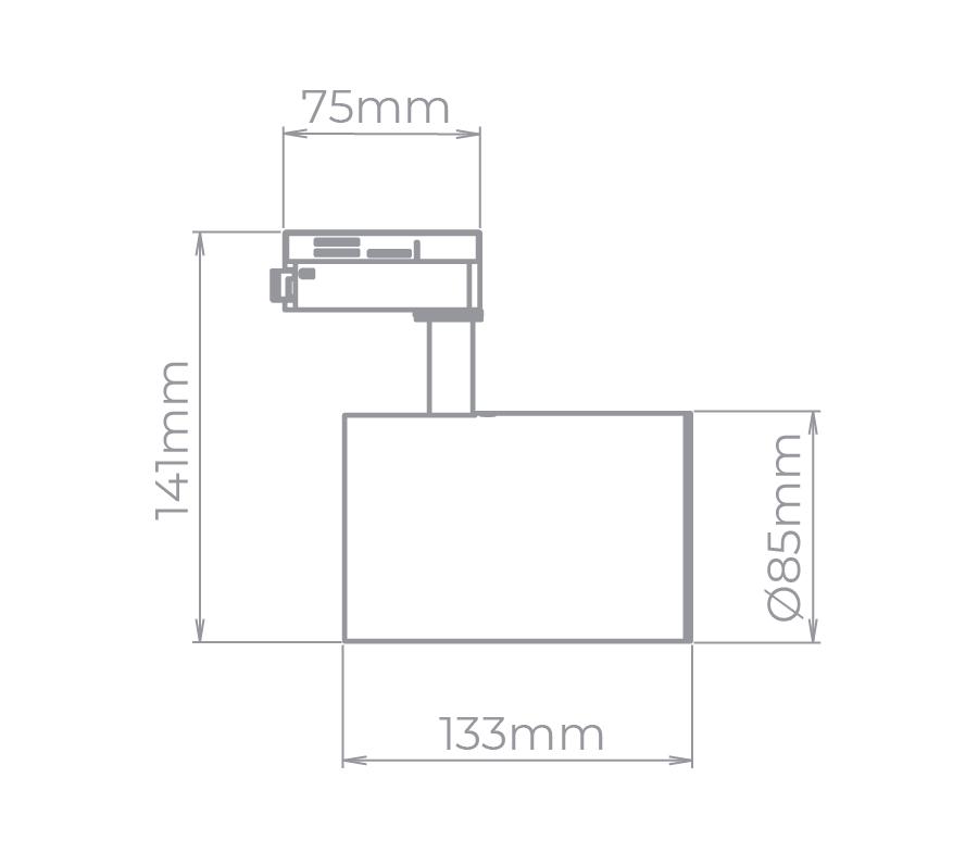 Spot Para Trilho Eletrificado Stella SD1720BR Zylinder 1L E27 PAR20 133x141mm - Branco