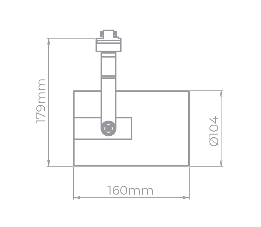 Spot Para Trilho Eletrificado Stella SD1960BR Flow 1L E27 PAR30 160x179mm - Branco