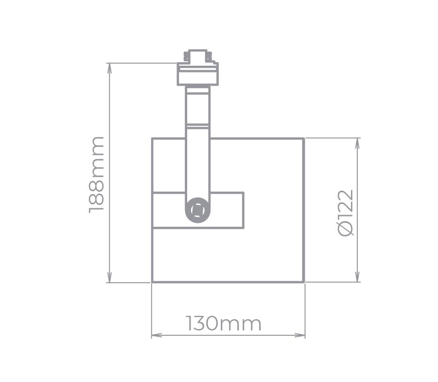 Spot Para Trilho Eletrificado Stella SD1980PTO Flow 1L AR111 GU10 130x188mm - Preto