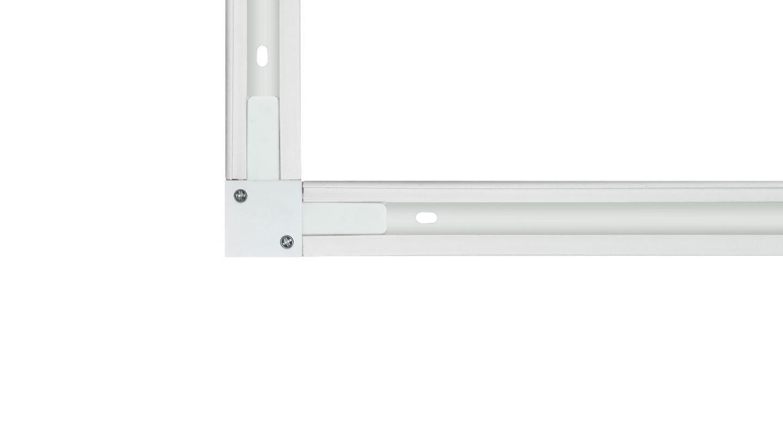 """Conexão """"L"""" Para Trilho Eletrificado Newline 931008 - Branco"""
