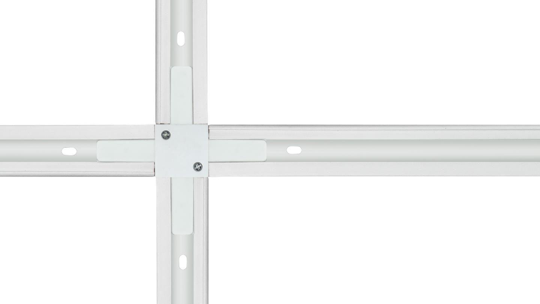 """Conexão """"X"""" Para Trilho Eletrificado Newline 931012 - Branco"""