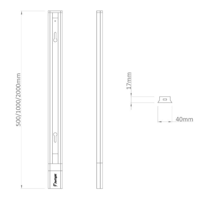 Trilho Spot Furlight FL3002 1 Metro 100cm Branco