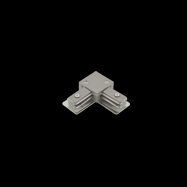 """Conexão """"L"""" Para Trilho Eletrificado Sobrepor Stella SD1044ST - Satin Silver"""