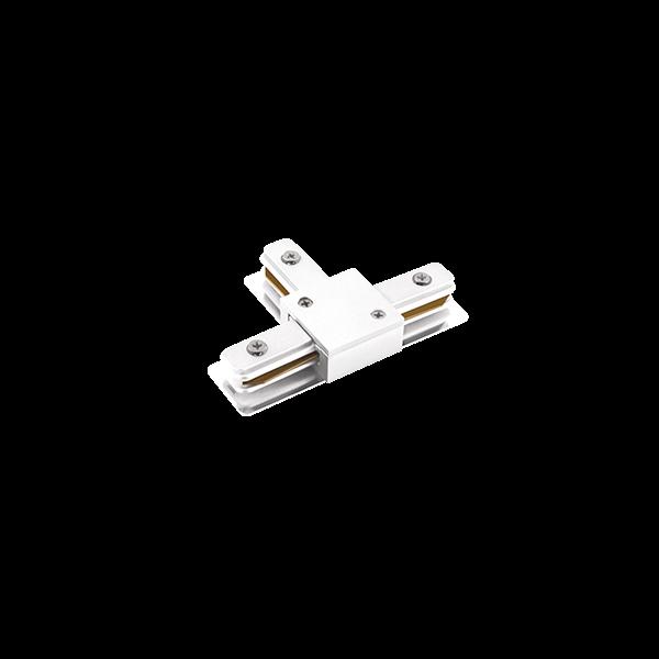 """Conexão """"T"""" Para Trilho Eletrificado Sobrepor Stella SD1045BR - Branco"""