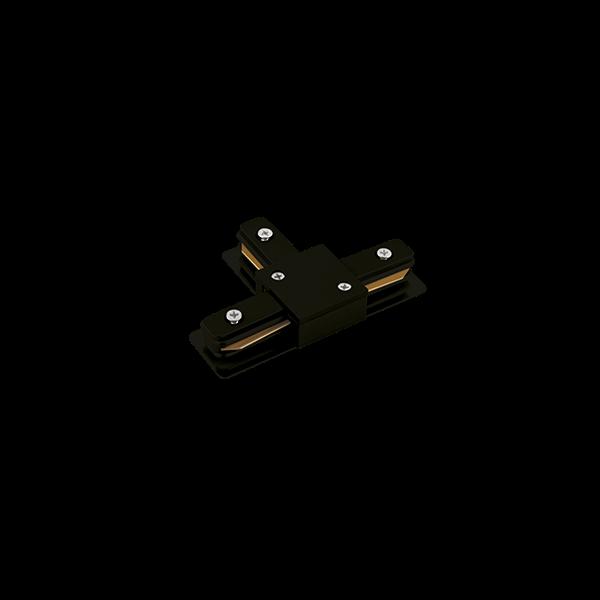 """Conexão """"T"""" Para Trilho Eletrificado Sobrepor Stella SD1045PTO - Preto"""