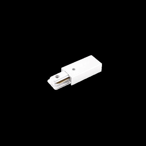 Alimentador Para Trilho Eletrificado Sobrepor Stella SD1046BR - Branco