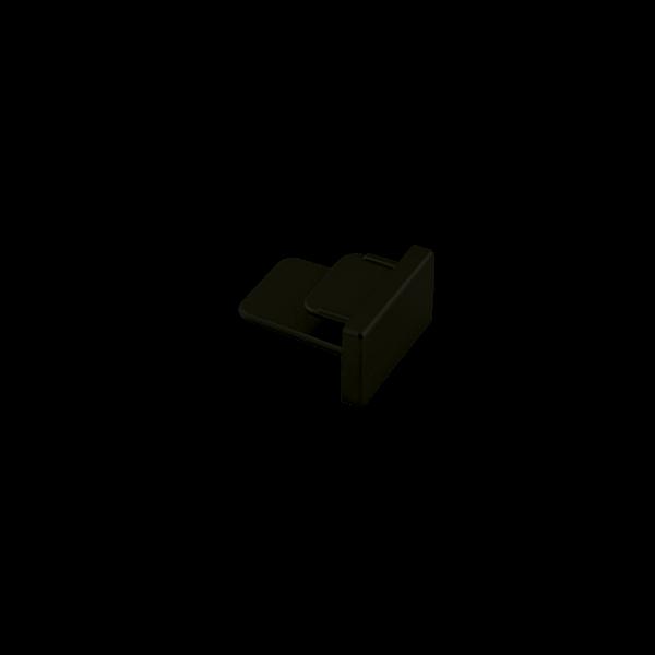Ponteira Para Trilho Eletrificado Sobrepor Stella SD1047PTO - Preto