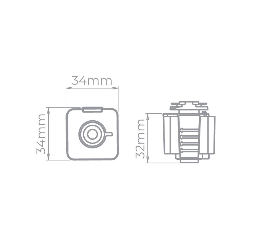 Adaptador Para Trilho Eletrificado Stella SD1100ST - Satin Silver