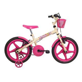Bicicleta Aro 16 Fofys Bege Fucsia Verden