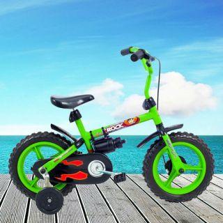 Bicicleta Infantil Aro 12 Verden Rock Verde E Preta