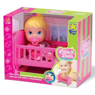 Boneca Baby Little Dolls Bercinho Divertoys