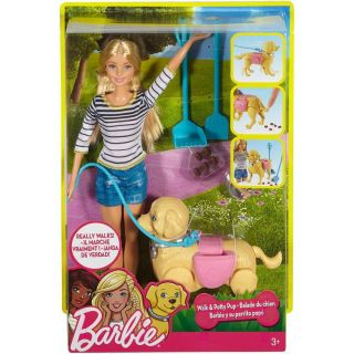 Boneca Barbie Familia Passeio Com Cachorrinho Mattel