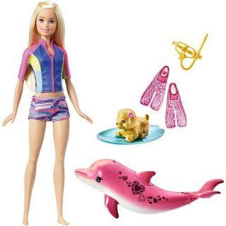 Boneca Barbie Filme Mergulho Com Bichinhos Mattel