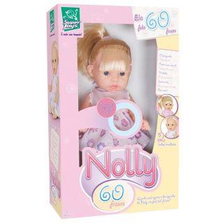 Boneca Nolly C Cabelo 60 Frases Super Toys
