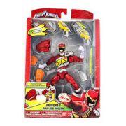 Boneco Power Rangers Dino Charge Vermelho Com Armadura De Luxo Sunny