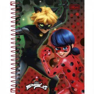 Caderneta Espiral 1/8 Miraculous: Ladybug - 96 Folhas Tilibra