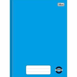 Caderno Brochura 1/4 80 Folhas Pepper Azul Tilibra