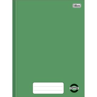 Caderno Brochura 1/4 80 Folhas Pepper Verde Tilibra