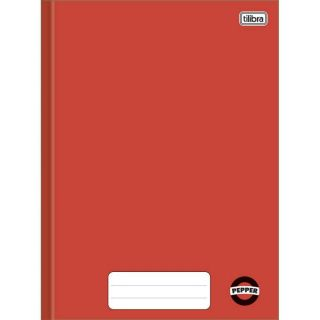 Caderno Brochura 1/4 80 Folhas Pepper Vermelho Tilibra