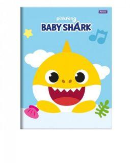 Caderno Brochurao C/D 96 Folhas Baby Shark Foroni