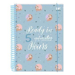 Caderno C/D 10 Materias Preguiça 160 Folhas Dac