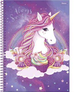 Caderno C/D 10 Materias Unicornio Foroni
