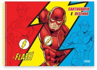 Caderno Cartografia C/D 60 Folhas The Flash Sao Domingos