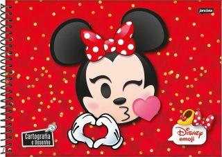 Caderno Cartografia C/D 96 Folhas Disney Emoji Jandaia