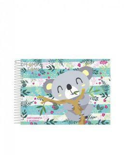 Caderno Cartografia C/D 96 Folhas Fom Fom Foroni