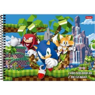 Caderno Cartografia C/D 96 Folhas Sonic Foroni