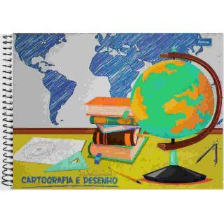 Caderno Desenho C/D Milimetrado 96 Folhas Foroni