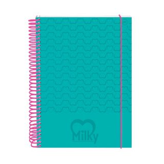 Caderno Universitario Milky 10 Materias 200 Folhas Dac