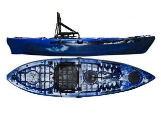 Caiaque Caiman 100 Hidro2 Eko Pesca E Recreação  Azul E Preto