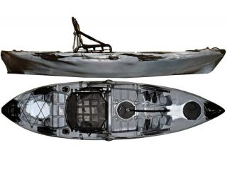 Caiaque Caiman 100 Hidro2 Eko Pesca E Recreação  Camuflado Cinza