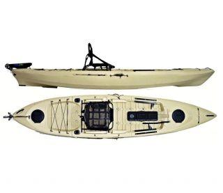 Caiaque Caiman 125 Hidro2 Eko Pesca E Recreação  Sem Leme Bege
