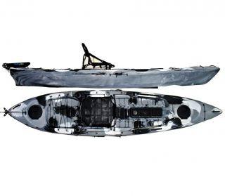Caiaque Caiman 125 Hidro2 Eko Pesca E Recreação  Sem Leme Camuflado Cinza