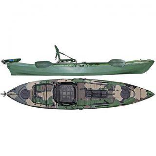 Caiaque Caiman 125 Hidro2 Eko Pesca E Recreação  Sem Leme Camuflado Verde